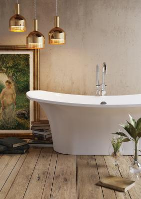 Elegant cast stone bathtub Bel Canto 1800x850 with Camille Pissarro reproduction