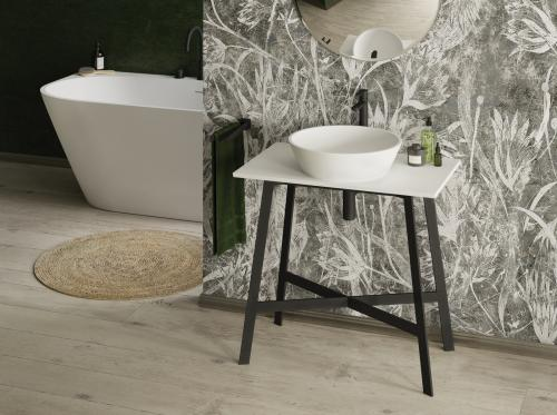 PAA-Baths-Silkstone-DECO-WALL-with-DECO-washbasin-and-DECO-MF500-metal-frame--interior-green-walls-WEB