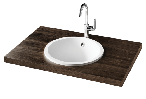 High quality surface-mounted Silkstone washbasin Round IN