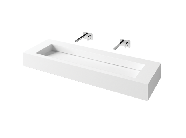 PAA custom length washbasin Silkstone FLOW 450 -  product sample
