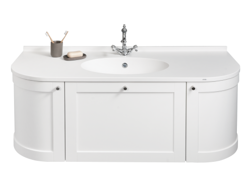 Sink cabinet OVO 1300 with Ovo Silk 1300x535x25mm washbasin