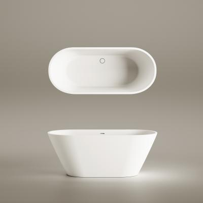 Free standing Silkstone bath DECO NUDO 1660x725mm - view from top and front