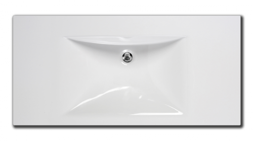 PAA Cast Stone washbasin Long Step 1000 top view