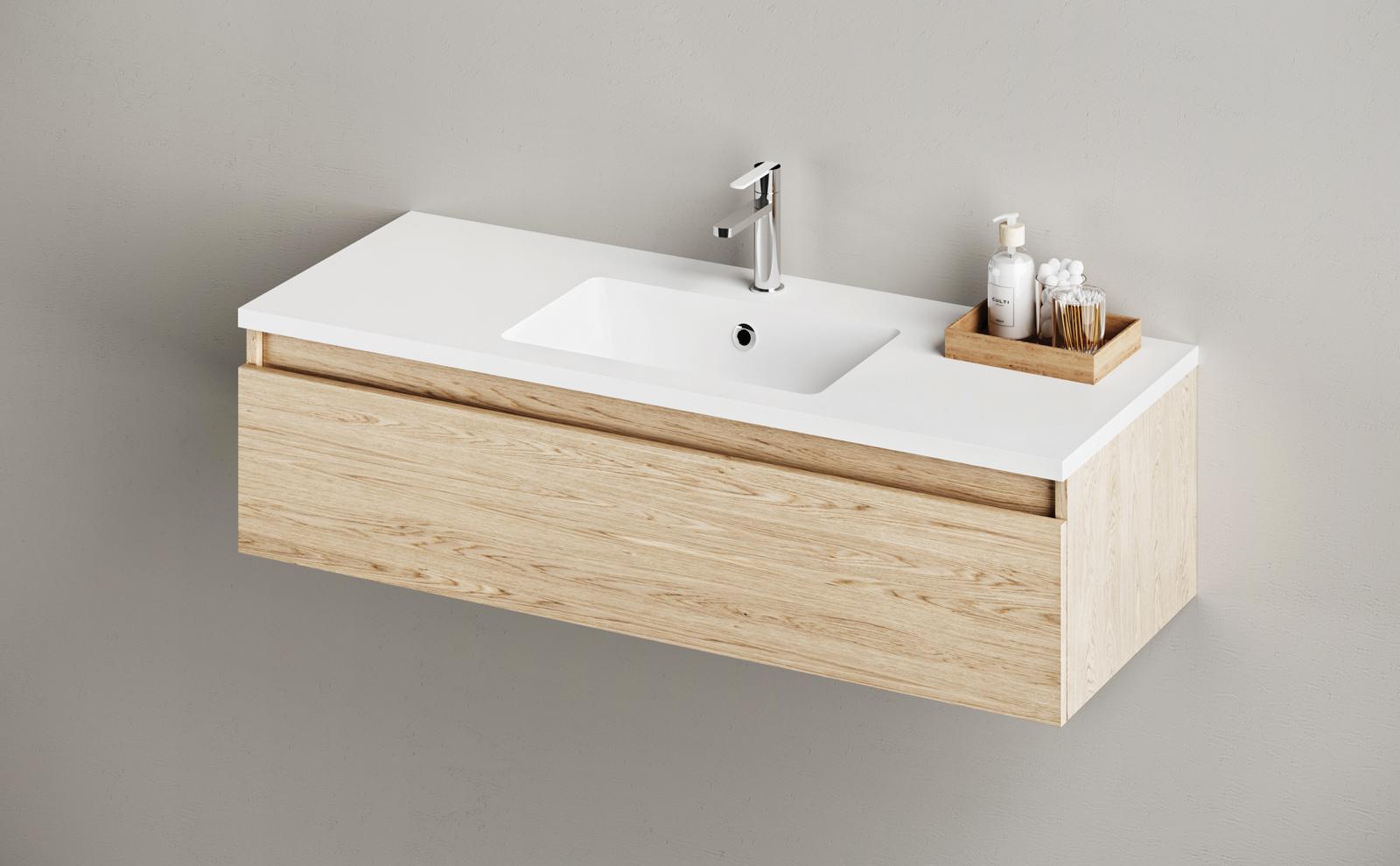 PAA Silkstone Washbasin MODO OPUS 1200x450x25 With Furniture Product Example